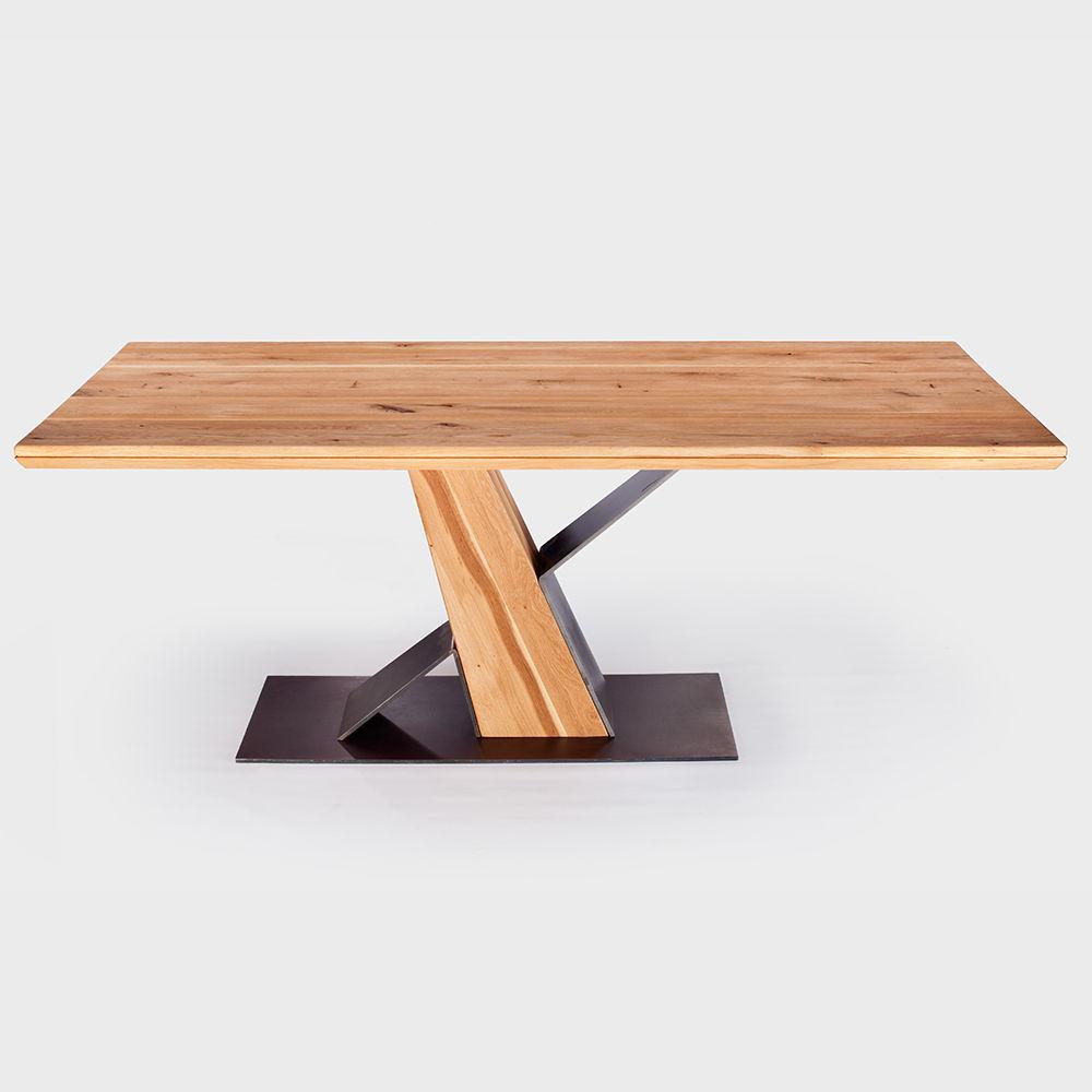 Details Zu Esstisch Wildeiche Massiv 200 X 100cm Designer Frankfurt Table Eiche Tisch Geölt