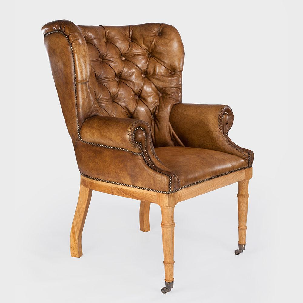 sessel echt vintage leder bonn relaxsessel ledersessel barock cool deluxe style ebay. Black Bedroom Furniture Sets. Home Design Ideas