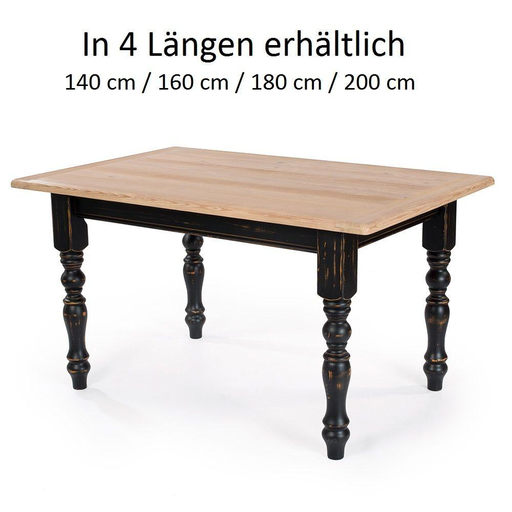 esstisch freiburg fichte massiv designer vintage landhaus 4gr 140 160 180 200 cm ebay. Black Bedroom Furniture Sets. Home Design Ideas