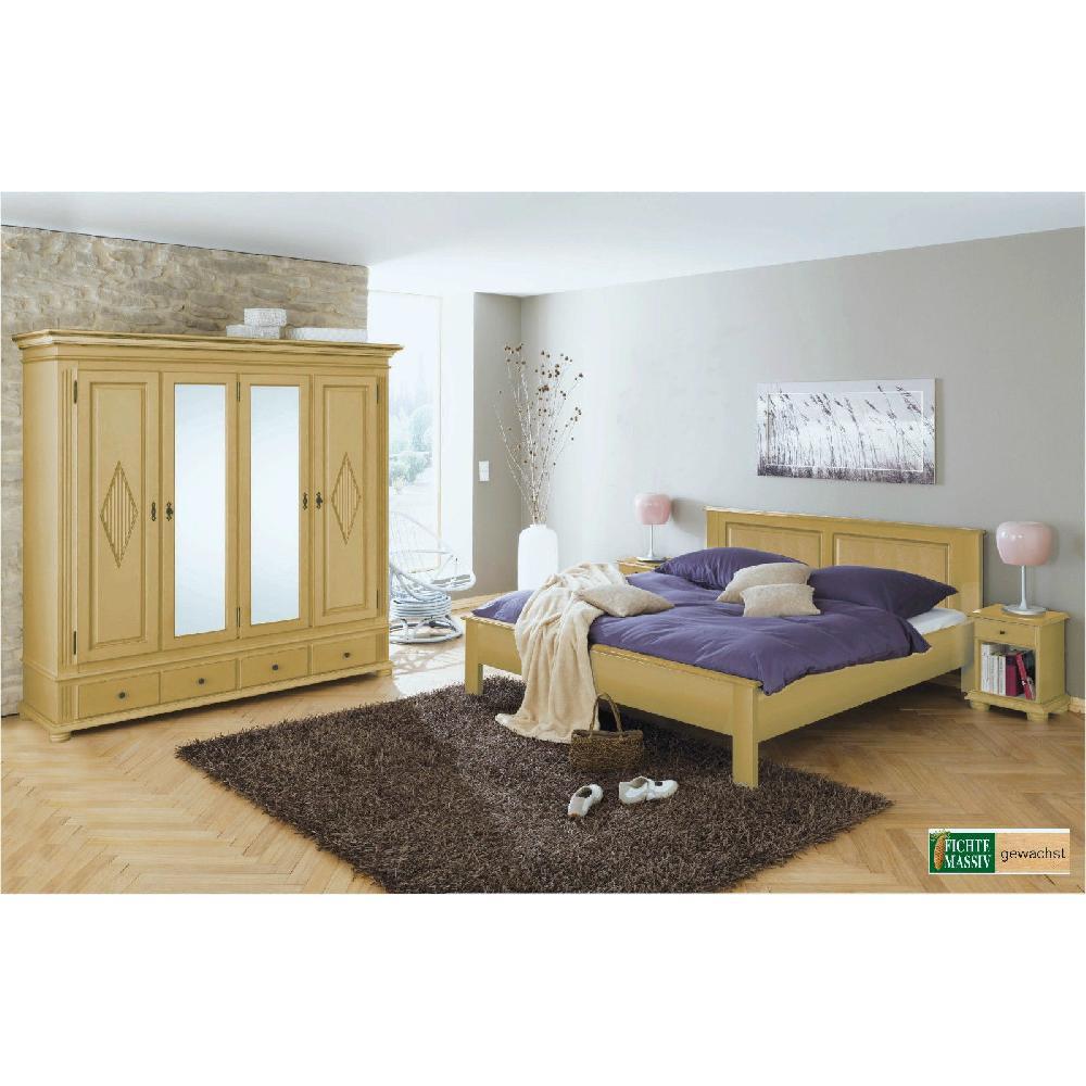 schlafzimmer set zugspitz 4 t rig landhaus fichte massiv gewachst ton 138 ebay. Black Bedroom Furniture Sets. Home Design Ideas