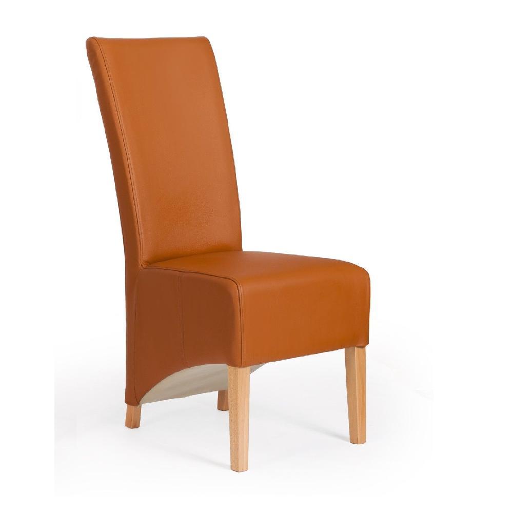 2 er stuhlset sessel hussen designer echt leder l beck for Esszimmerstuhl cognac