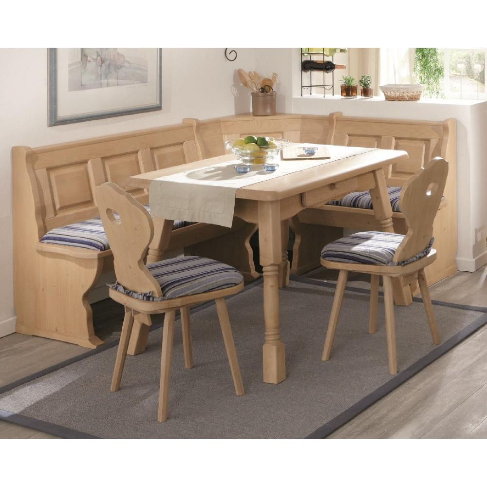 eckbankgruppe amberg 125x165cm fichte massiv gewachst set landhaus ebay. Black Bedroom Furniture Sets. Home Design Ideas
