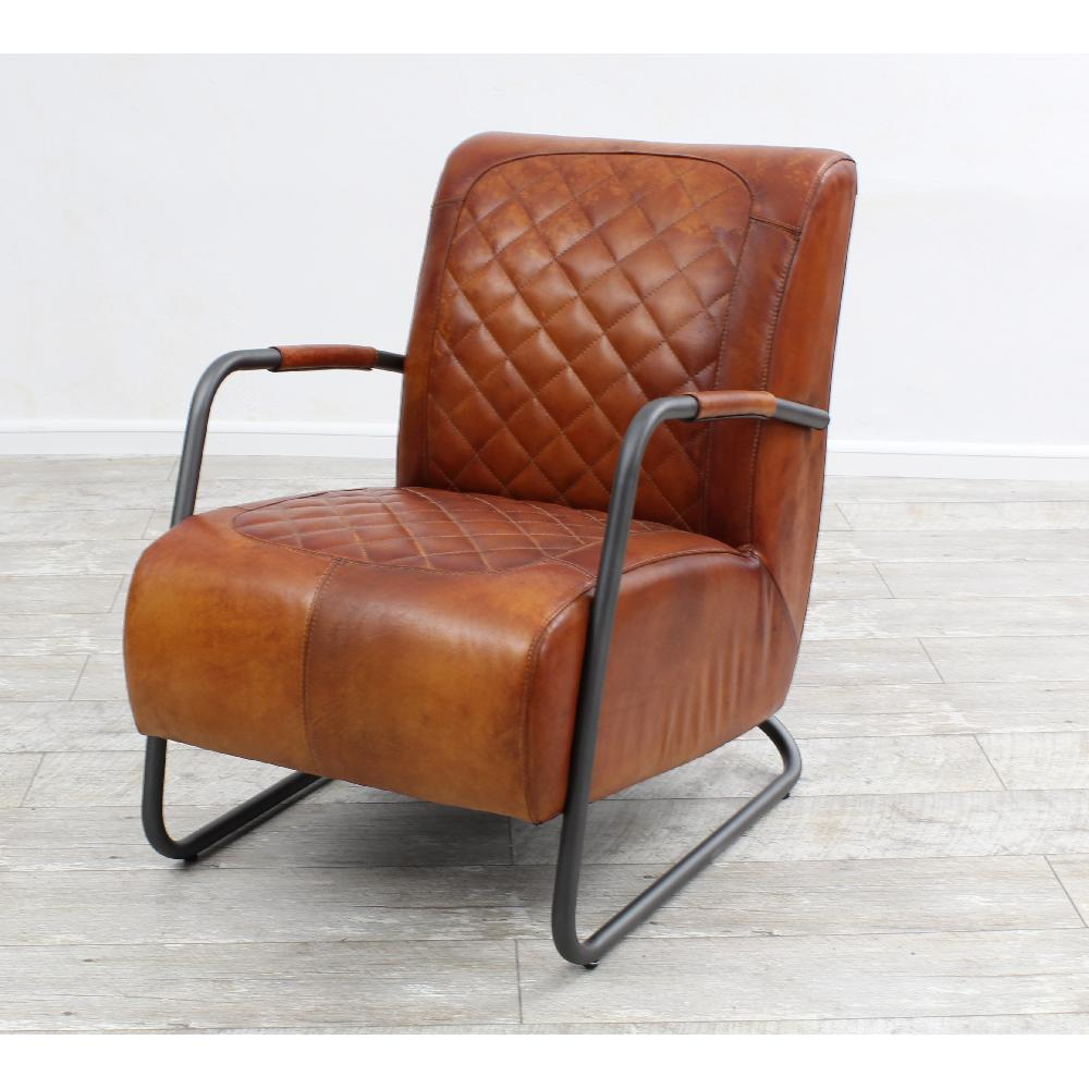 vintage ledersessel echt b ffel leder industrielook sessel. Black Bedroom Furniture Sets. Home Design Ideas