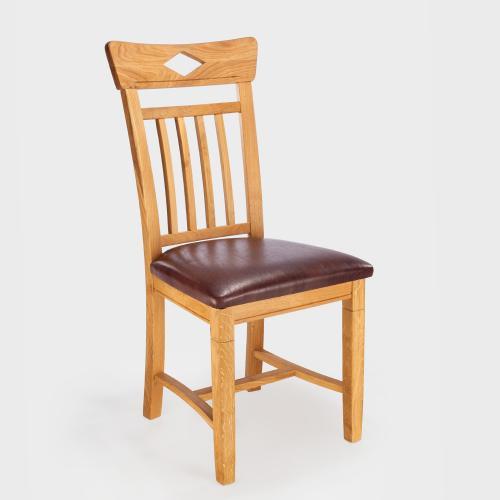 stuhl wildeiche massiv ge lt echt leder designer vintage braun eiche landshut aktiv moebel. Black Bedroom Furniture Sets. Home Design Ideas