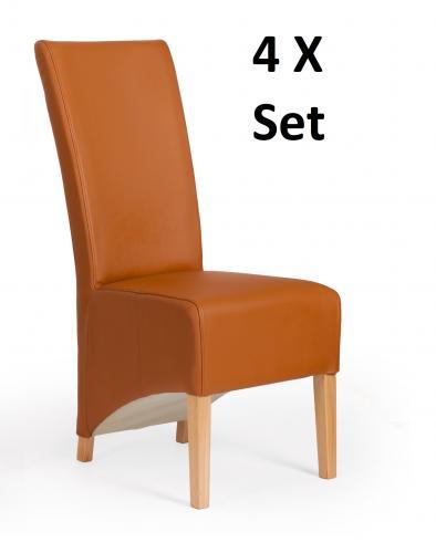 Sessel modern leder  4 er Stuhlset Sessel Hussen Designer echt Leder Lübeck Stuhl Set ...