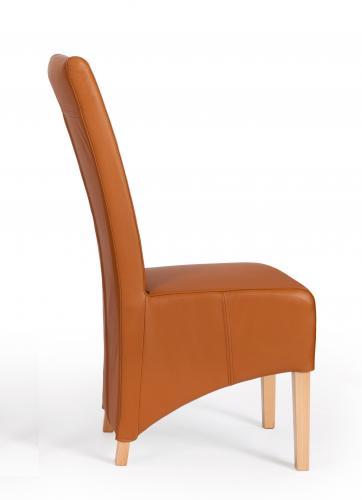 6 er stuhlset sessel hussen designer echt leder l beck stuhl set cognac modern aktiv moebel. Black Bedroom Furniture Sets. Home Design Ideas