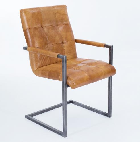 schwingstuhl freischwinger designer kassel echt leder hellbraun 703 vintage armlehne aktiv. Black Bedroom Furniture Sets. Home Design Ideas