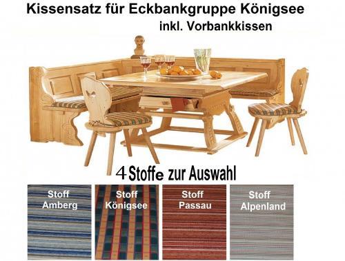 kissensatz eckbankgruppe k nigsee inkl vorbank kissen 4. Black Bedroom Furniture Sets. Home Design Ideas