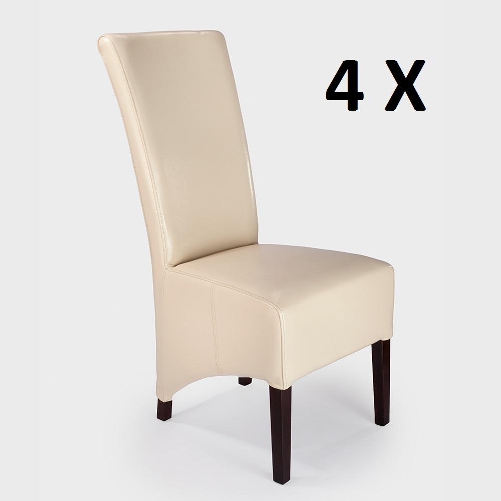 4 Designer Stuhlset Sessel Hussen Aktiv Er Kunstleder rxedBCo