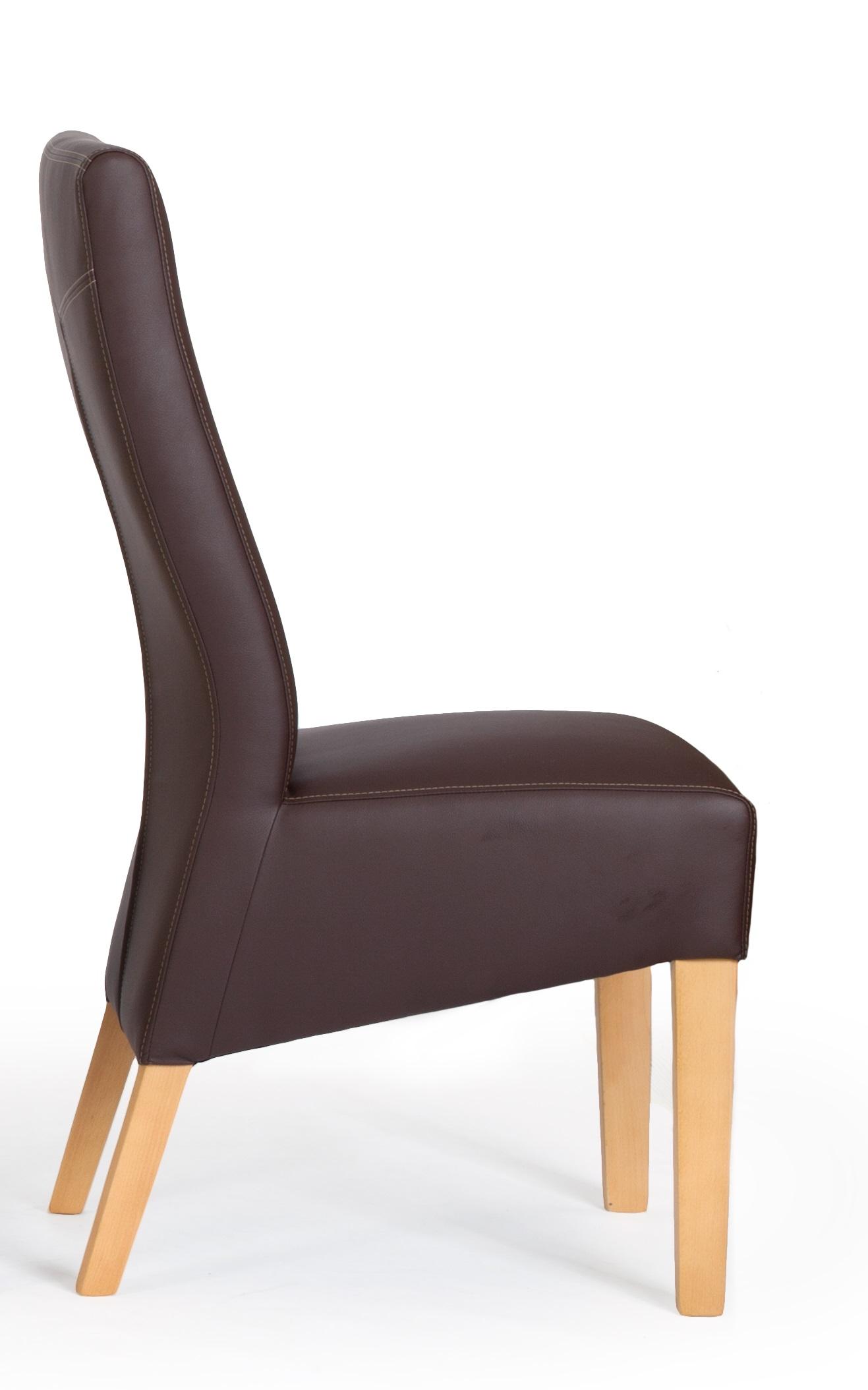 aktiv stuhl sessel kunstleder nina ii braun d207 holzf e massiv buche lack modern. Black Bedroom Furniture Sets. Home Design Ideas