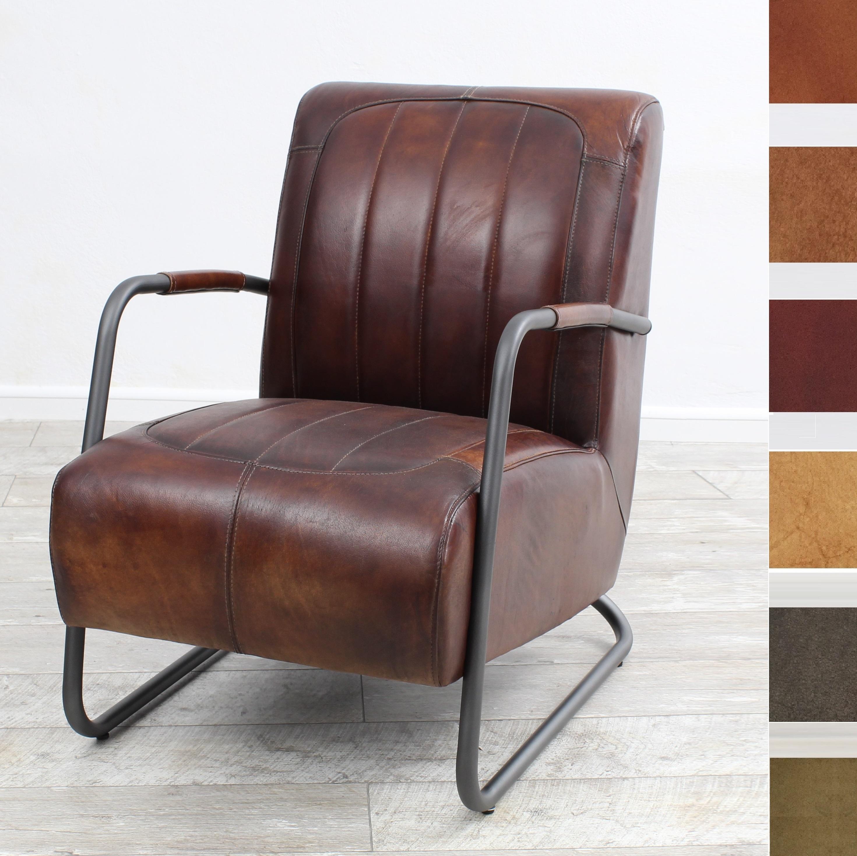 aktiv sessel stuhl designer m nchen nr 2 echt b ffel leder vintage farbe tobacco. Black Bedroom Furniture Sets. Home Design Ideas