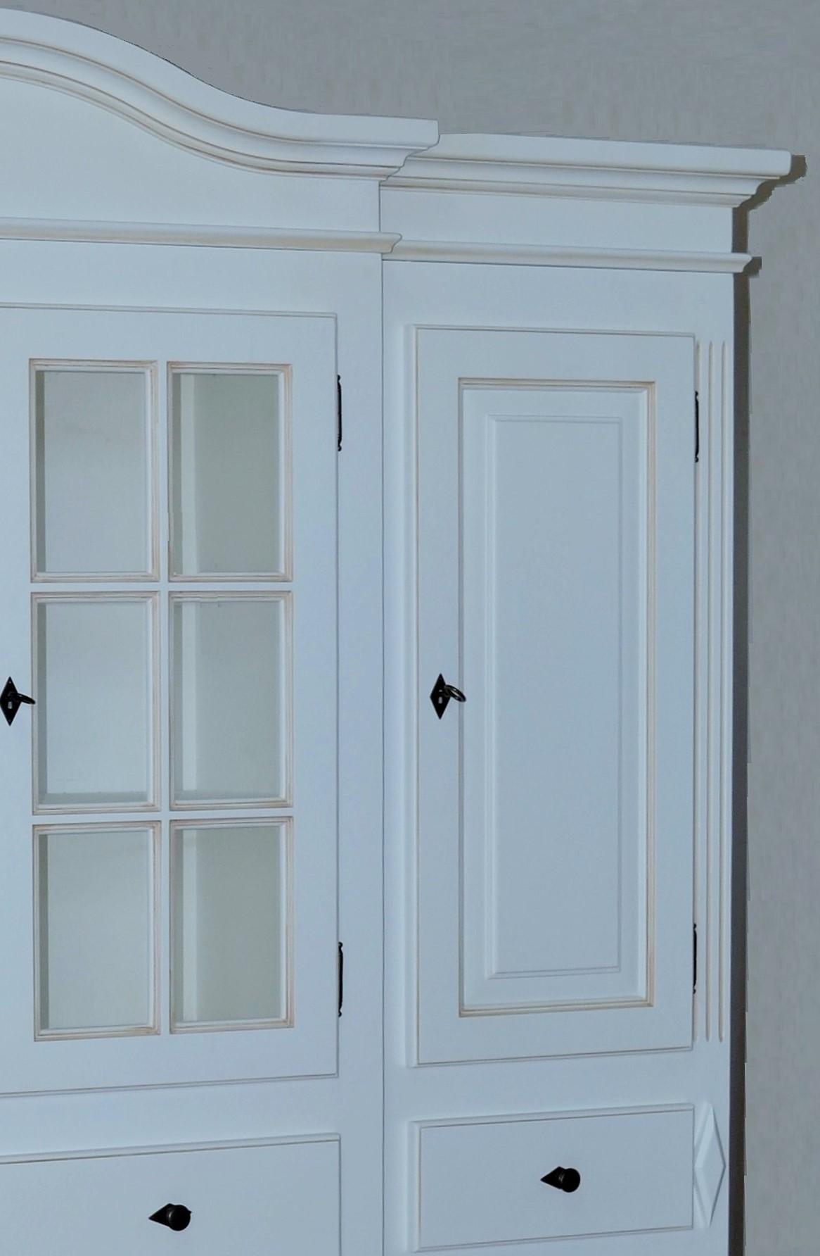 aktiv wohnwand wallersee anbauwand schrankwand design fichte massiv landhaus wei lack. Black Bedroom Furniture Sets. Home Design Ideas