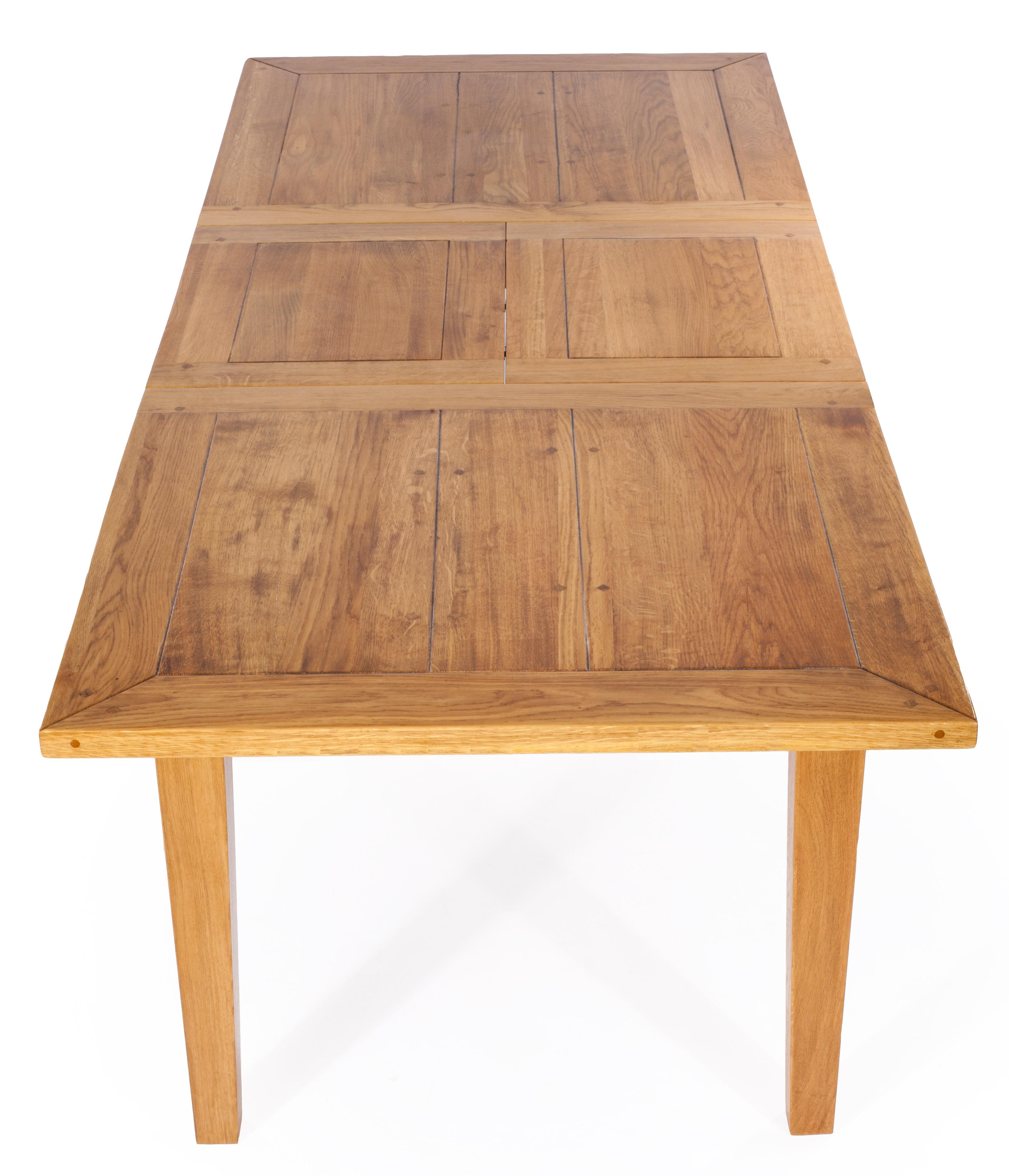 aktiv esstisch ausziehtisch eiche massiv designer provance 180 260 cm korn lack. Black Bedroom Furniture Sets. Home Design Ideas