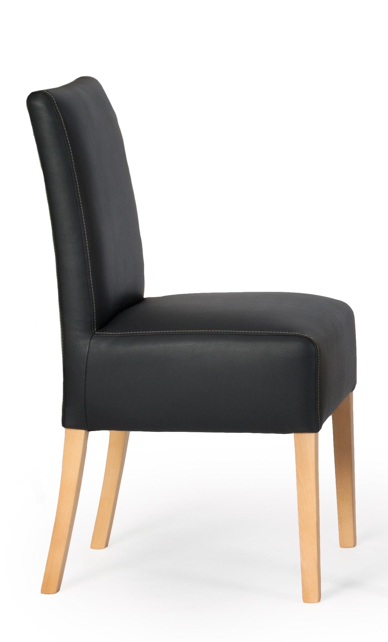 aktiv 2er stuhlset sessel stuhl poplow kunstleder schwarz h901 modern buche lack. Black Bedroom Furniture Sets. Home Design Ideas