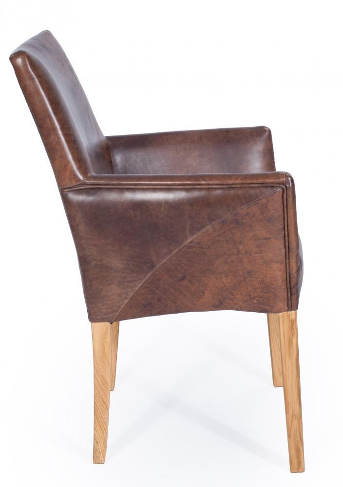 Armlehnenstuhl sessel designer regensburg echt leder for Sessel vintage leder