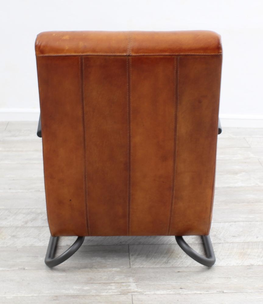 aktiv sessel stuhl designer m nchen nr 1 echt b ffel leder vintage farbe cogac. Black Bedroom Furniture Sets. Home Design Ideas