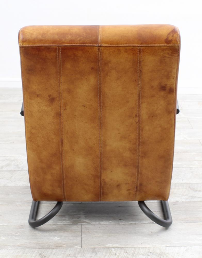 aktiv sessel stuhl designer m nchen nr 1 echt b ffel leder vintage farbe dark. Black Bedroom Furniture Sets. Home Design Ideas