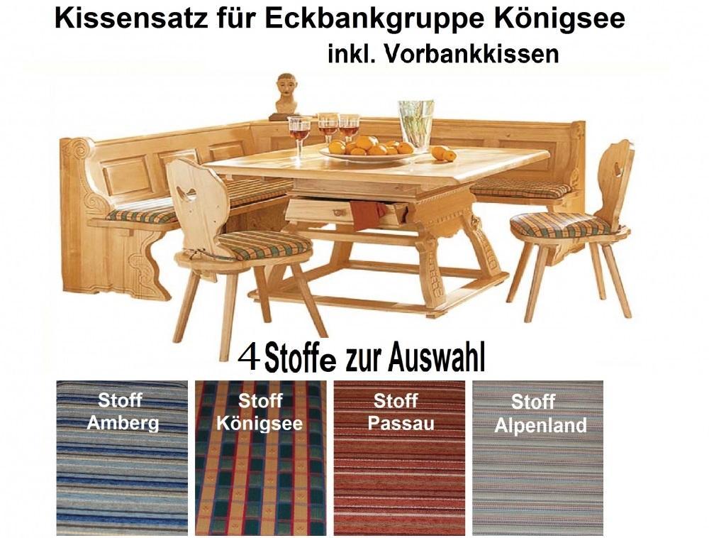 aktiv kissensatz f r eckbankgruppe k nigsee inkl vorbank kissen 4 stoffe zur auswahl. Black Bedroom Furniture Sets. Home Design Ideas