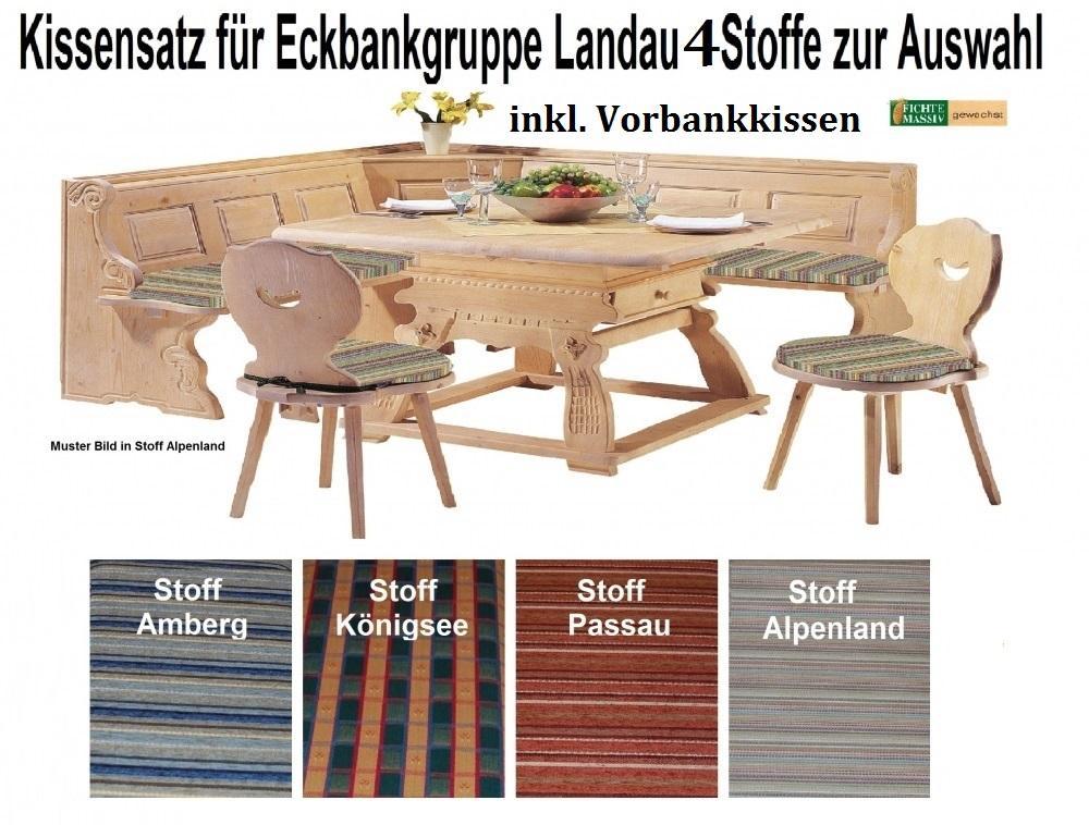 aktiv kissensatz f r eckbankgruppe landau komplett inkl vorbankkissen 4 stoffvarianten. Black Bedroom Furniture Sets. Home Design Ideas